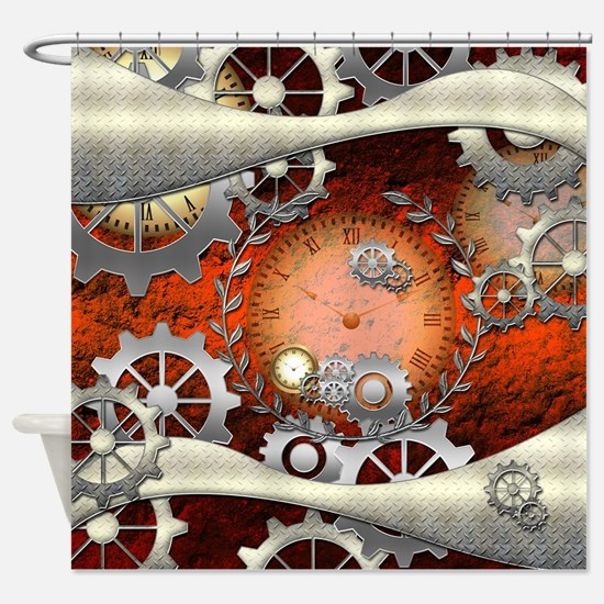 Steampunk in noble design Shower Curtain