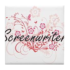 Screenwriter Artistic Job Design with Tile Coaster