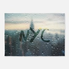 Rainy Day in NYC 5'x7'Area Rug