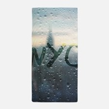 Rainy Day in NYC Beach Towel