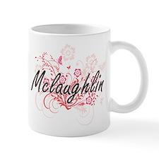 Mclaughlin surname artistic design with Flowe Mugs