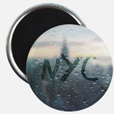 Rainy Day in NYC Magnets