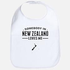 Somebody In New Zealand Loves Me Bib