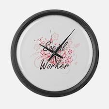 Social Worker Artistic Job Design Large Wall Clock
