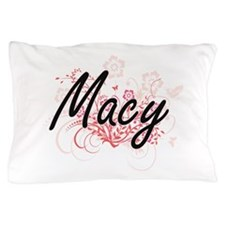 Macy surname artistic design with Flow Pillow Case