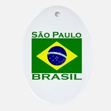 Sao Paulo, Brazil Oval Ornament