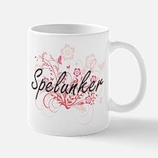 Spelunker Artistic Job Design with Flowers Mugs