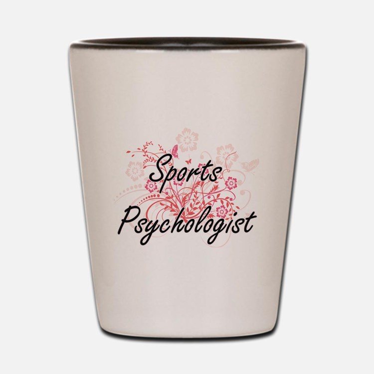 Sports Psychologist Artistic Job Design Shot Glass