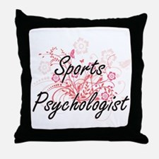 Sports Psychologist Artistic Job Desi Throw Pillow