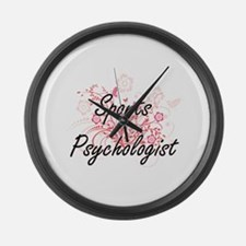 Sports Psychologist Artistic Job Large Wall Clock