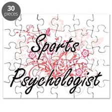 Sports Psychologist Artistic Job Design wit Puzzle