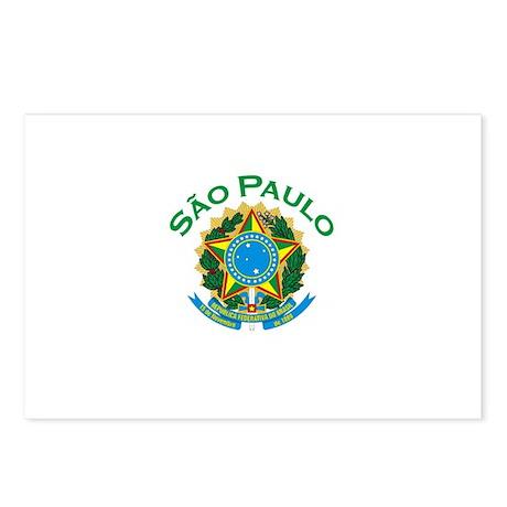 Sao Paulo, Brazil Postcards (Package of 8)