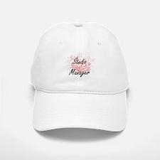 Studio Manager Artistic Job Design with Flower Baseball Baseball Cap
