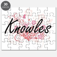 Knowles surname artistic design with Flower Puzzle