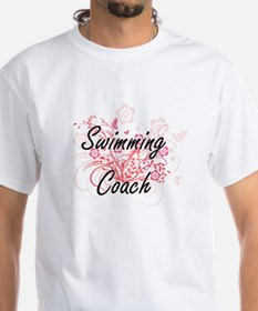 Swimming Coach Artistic Job Design with Fl T-Shirt