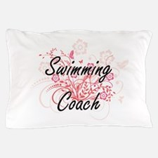 Swimming Coach Artistic Job Design wit Pillow Case