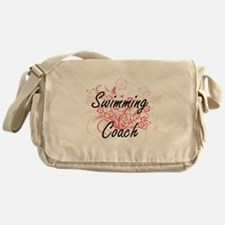 Swimming Coach Artistic Job Design w Messenger Bag