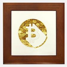 Bitcoin Design 1 Framed Tile