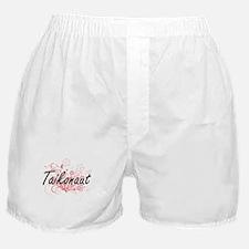 Taikonaut Artistic Job Design with Fl Boxer Shorts