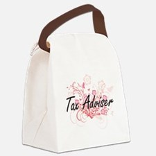 Tax Adviser Artistic Job Design w Canvas Lunch Bag