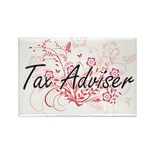 Tax Adviser Artistic Job Design with Flowe Magnets