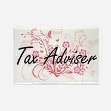 Tax Adviser Artistic Job Design with Flowe Magnets