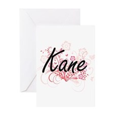 Kane surname artistic design with F Greeting Cards