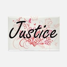 Justice surname artistic design with Flowe Magnets
