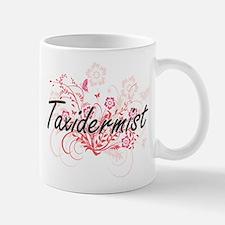 Taxidermist Artistic Job Design with Flowers Mugs