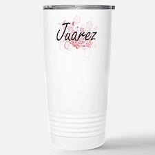 Juarez surname artistic Stainless Steel Travel Mug