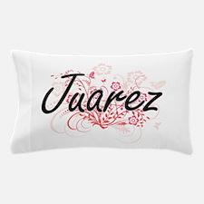 Juarez surname artistic design with Fl Pillow Case