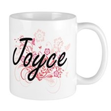 Joyce surname artistic design with Flowers Mugs