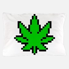 Weed Leaf Pixel Pillow Case