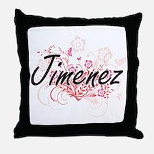 Jimenez surname artistic design with Throw Pillow