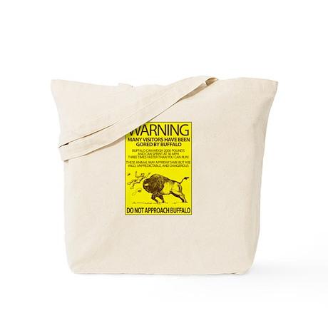 Warning: Buffalo Tote Bag