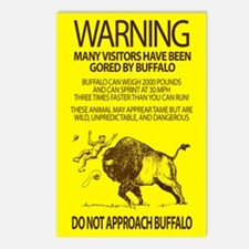 Warning: Buffalo Postcards (Package of 8)