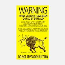 Warning: Buffalo Rectangle Decal