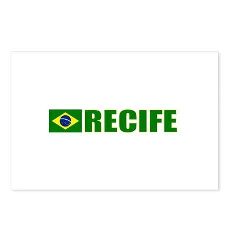 Recife, Brazil Postcards (Package of 8)