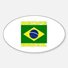 Recife, Brazil Oval Decal