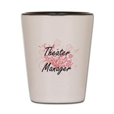 Theater Manager Artistic Job Design wit Shot Glass