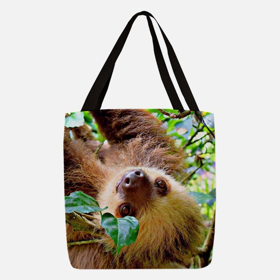 awesome Sloth Polyester Tote Bag