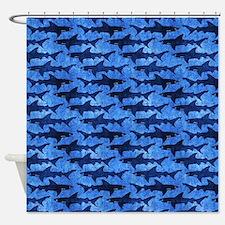 Sharks in the Deep Blue Sea Shower Curtain