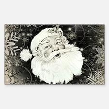 Vintage Santa Claus with snowflakes Decal