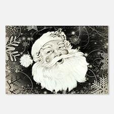 Vintage Santa Claus with snowflakes Postcards (Pac
