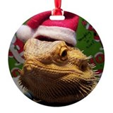 Bearded dragon christmas Round Ornament