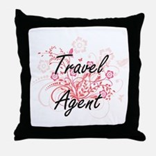 Travel Agent Artistic Job Design with Throw Pillow