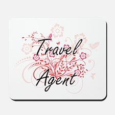 Travel Agent Artistic Job Design with Fl Mousepad