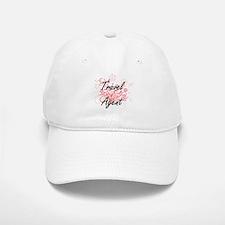 Travel Agent Artistic Job Design with Flowers Baseball Baseball Cap