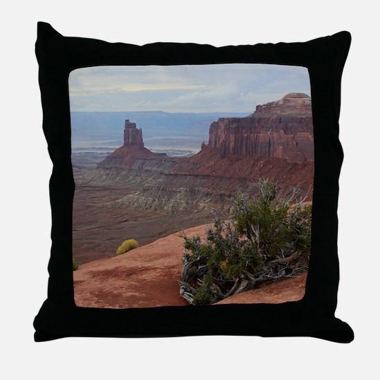 Funny Canyonlands Throw Pillow