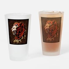 King Lion Roar Drinking Glass